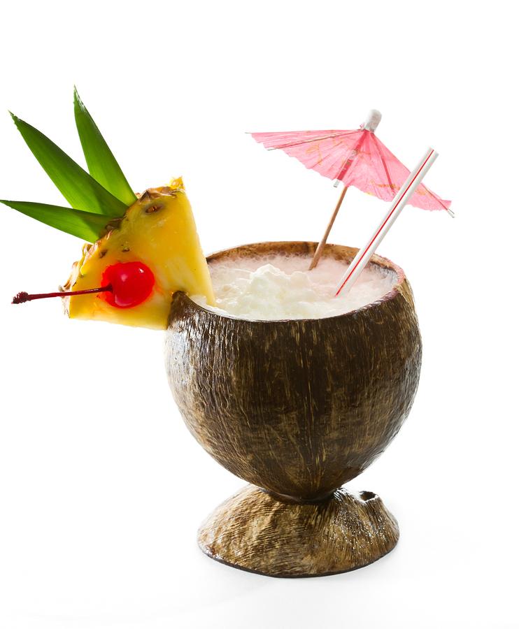 Coconut Drink: Garnish Isn't Just Pretty